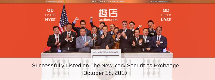 Qudian during last month's IPO on the New York Stock Exchange.