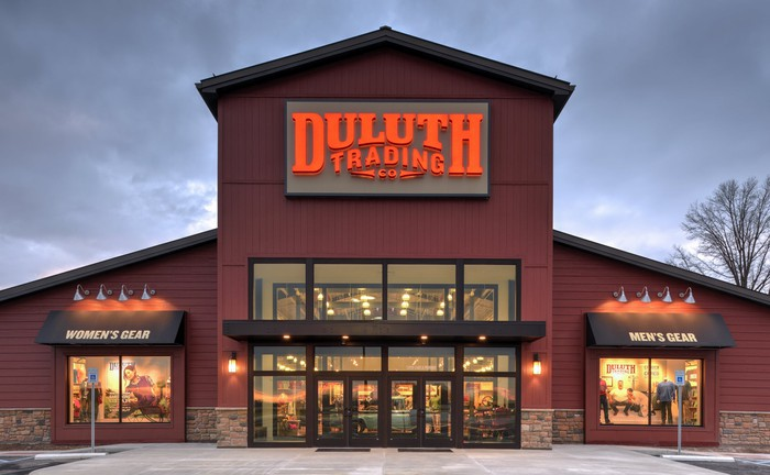 The exterior of a Duluth Trading store