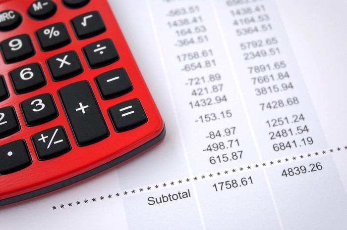Investment statement with calculator