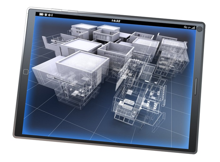 Architecture software app on a tablet