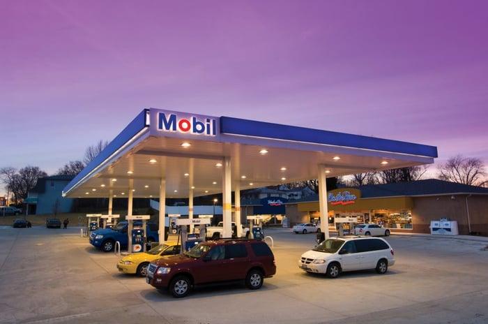ExxonMobil gas station.