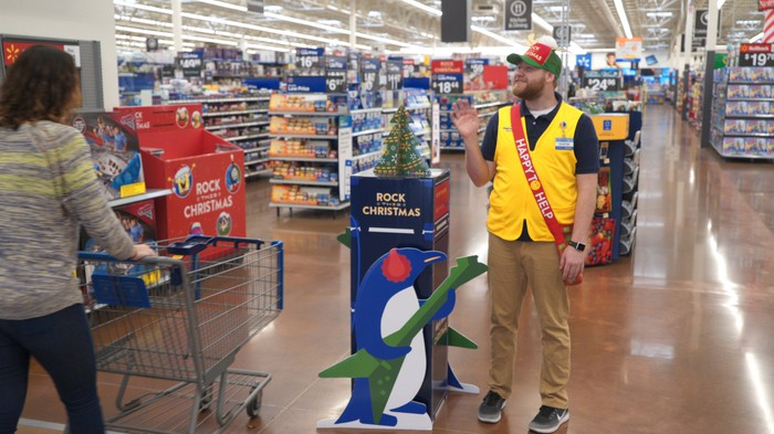 Wal-Mart greeter.
