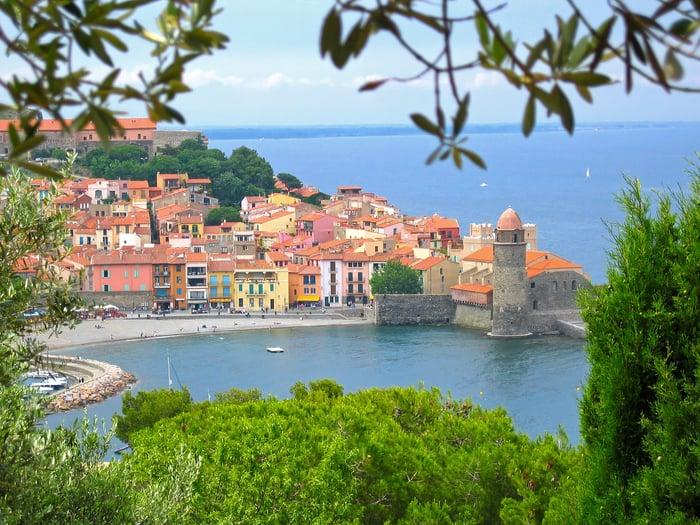 Old Mediterranean village of Collioure, Vermilion coast, Languedoc-Roussillon, France