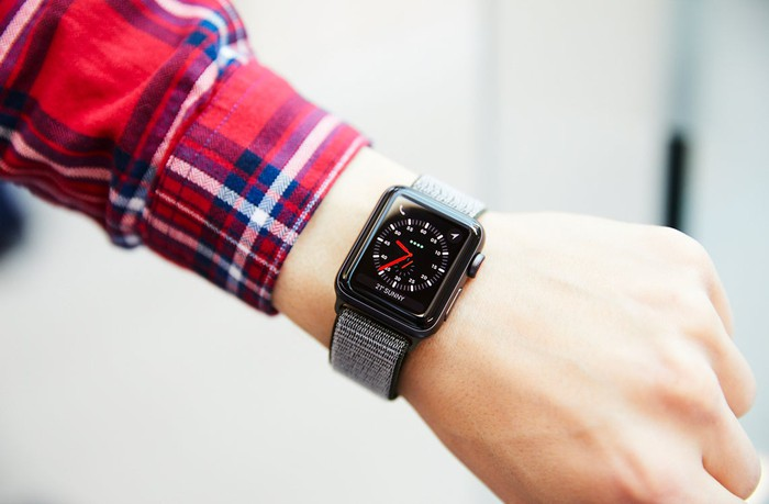 Apple Watch Series 3 on a person's wrist