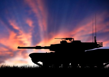 tank in front of sunset military army