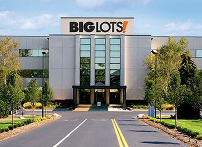 The entrance to a Big Lots store