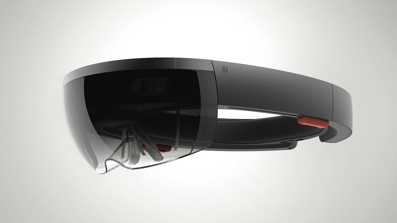 a Microsoft Hololens headset.