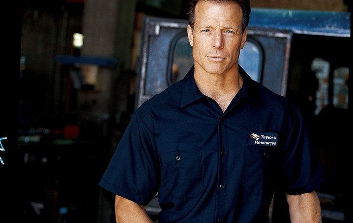 Mechanic wearing a company uniform