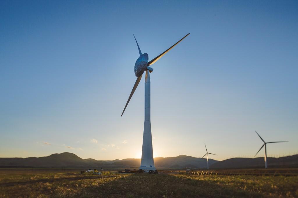 a GE wind turbine