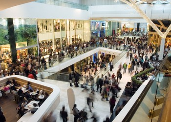 crowd in retail shopping bricks and mortar