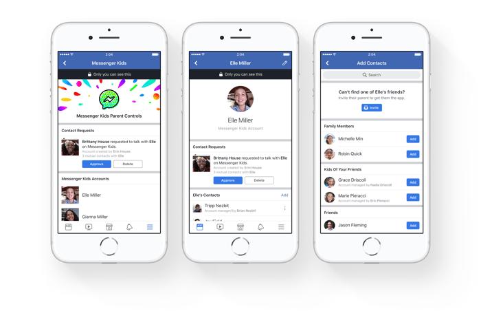 Messenger Kids parental controls in the Facebook app
