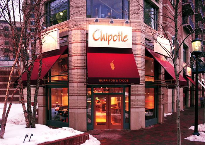 A Chipotle restaurant in Bethesda, Maryland.