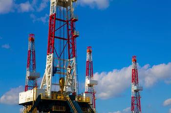 drilling rig close up