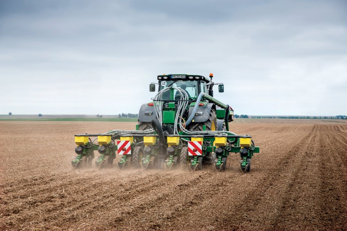 A high performance Deere planter.