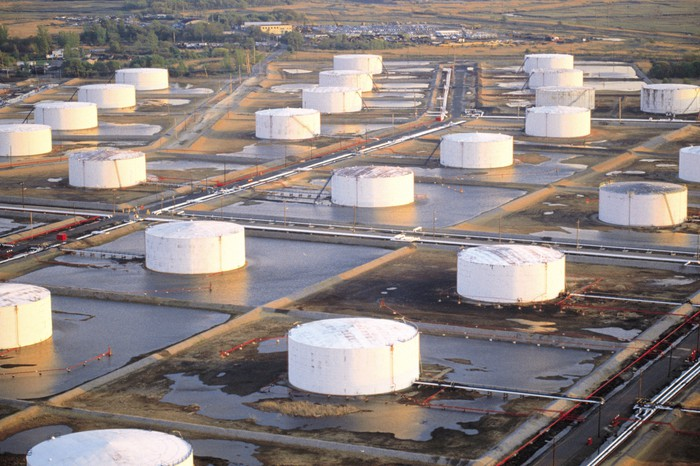 Oil storage terminals.