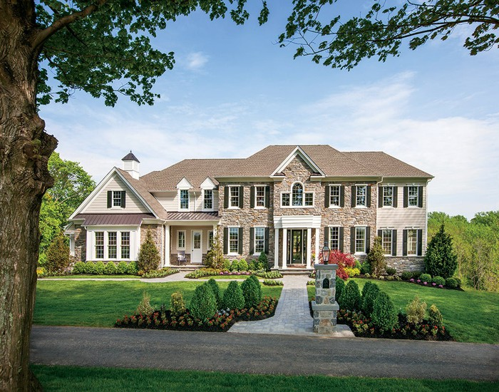 A luxury home built by Toll Brothers