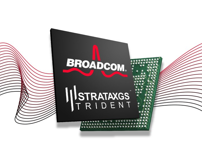 A Broadcom StrataXGS Trident chip.