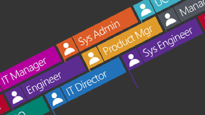 Picture of several labels with Microsoft solutions written on them.
