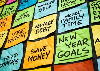 new years resolutions save more spend less get out of debt financial goals