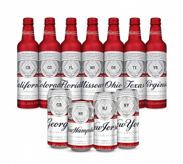 Budweiser beer bottles