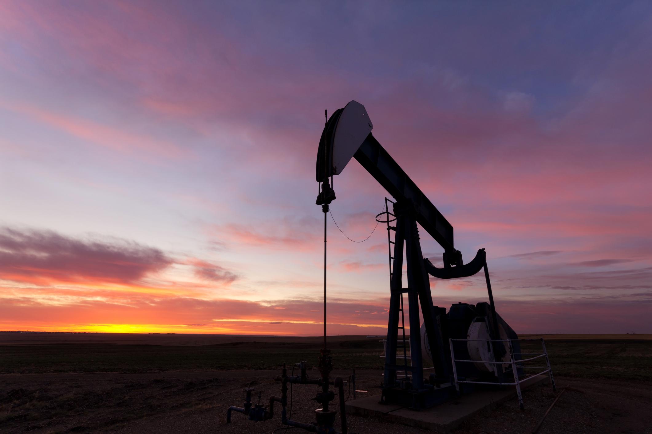 A dinosaur oil well.