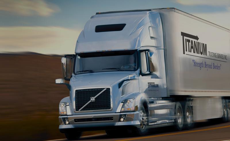 A Titanium Transportation trailer.