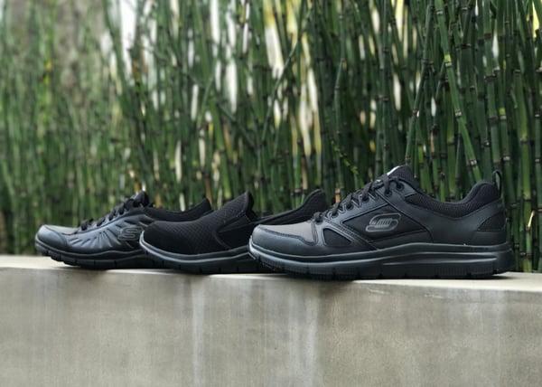 skechers black shoes