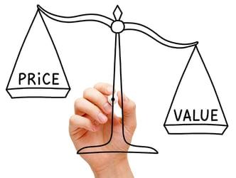 price value scale