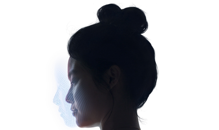 Visualization of how Face ID works