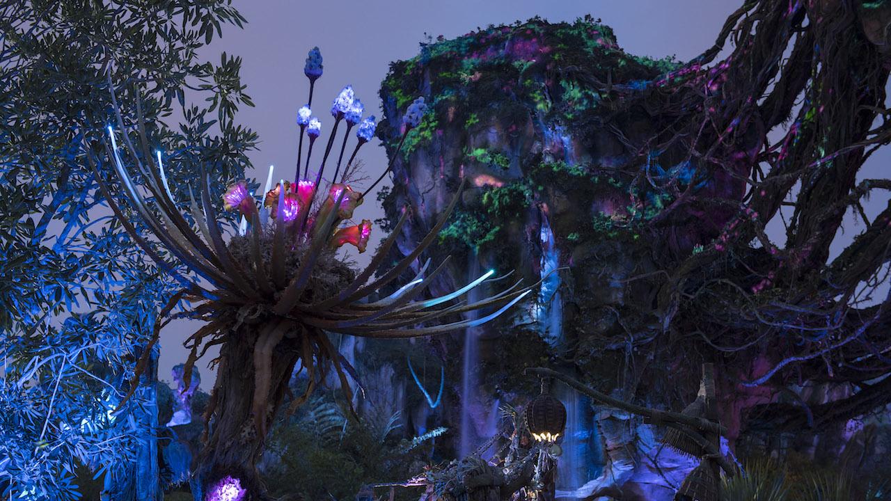 Pandora World of Avatar exhibit at Disney World.