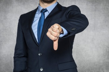 Businessman Thumbs Down CEO Getty