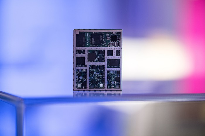 A Qualcomm LTE chip.