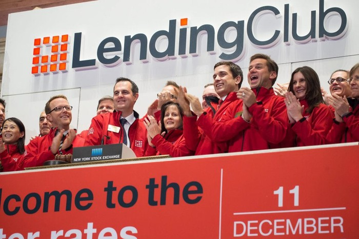 LendingClub at NYSE on its Dec. 11, 2014 debut.