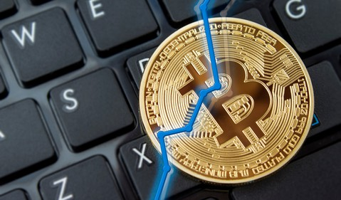 Bitcoin Chart Keyboard Ethereum Ripple Litecoin Cryptocurrency Getty