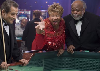 Casino gambling craps older couple black getty