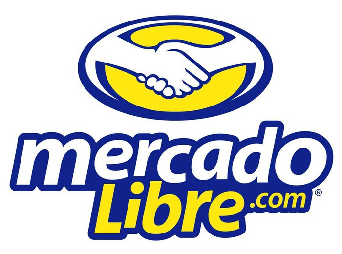 MercadoLibre logo with a graphic of two hands shaking.