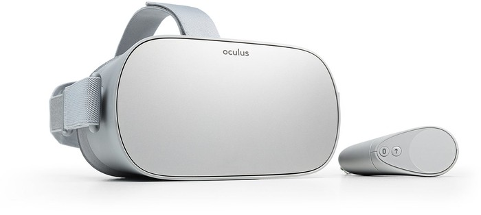 Oculus Go headset and controller.