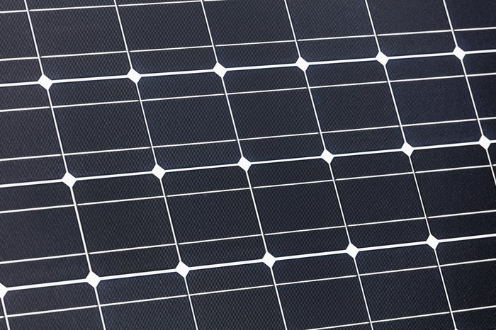 Close-up of solar panel.