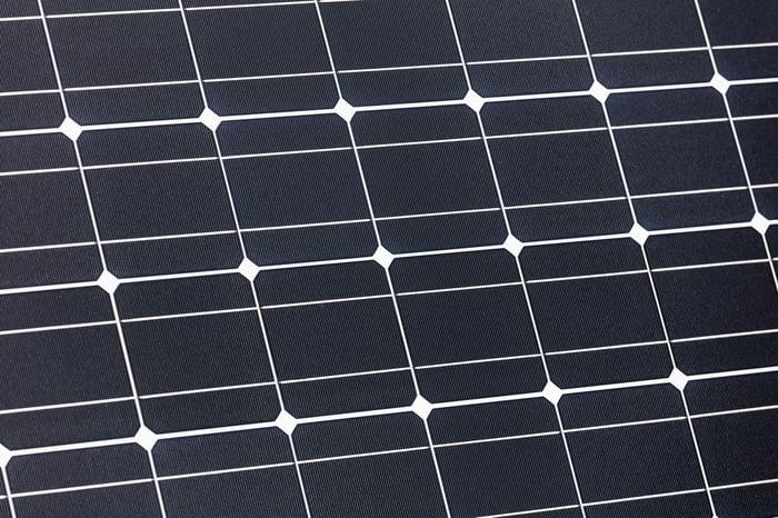 Close-up of solar panel.