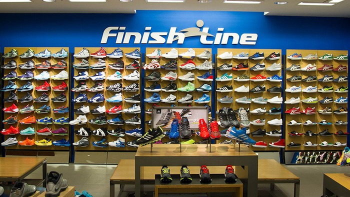 A Finish Line display within a Macy's store.