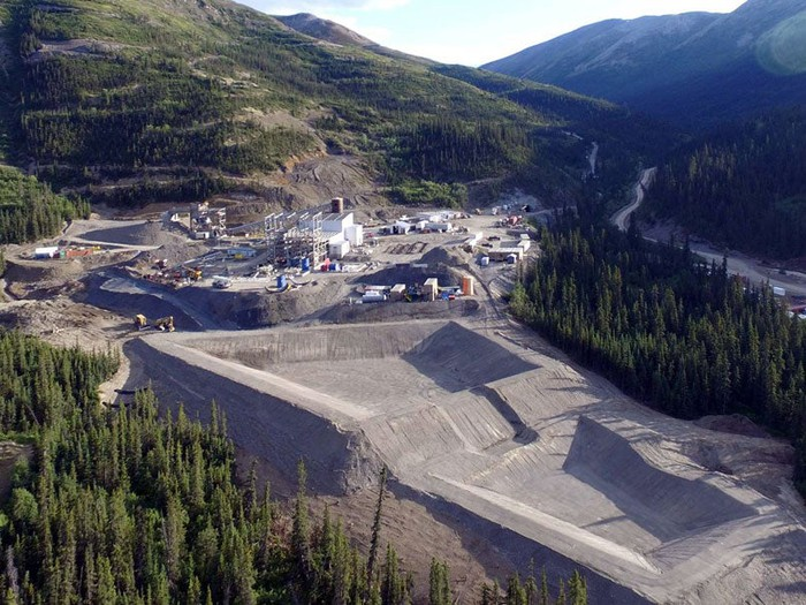A bird's eye view of Coeur's Silvertip mine.