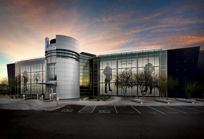 The exterior of Axon Enterprise's headquarters in Arizona.