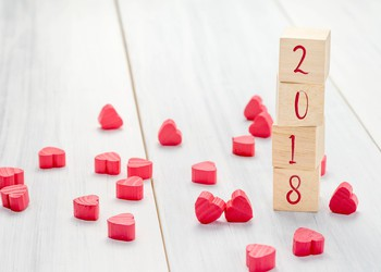 2018 with hearts