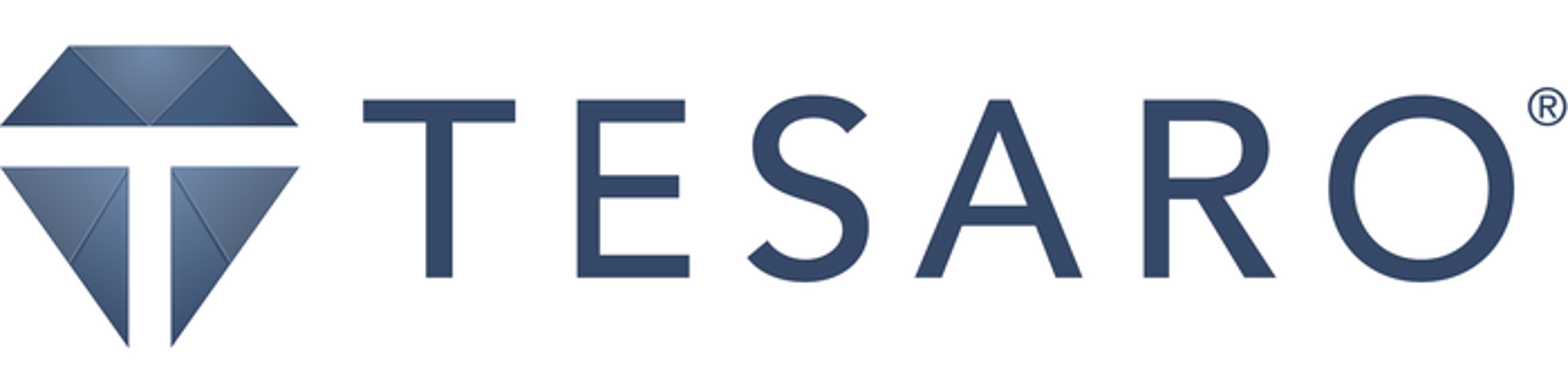 Tesaro corporate logo.