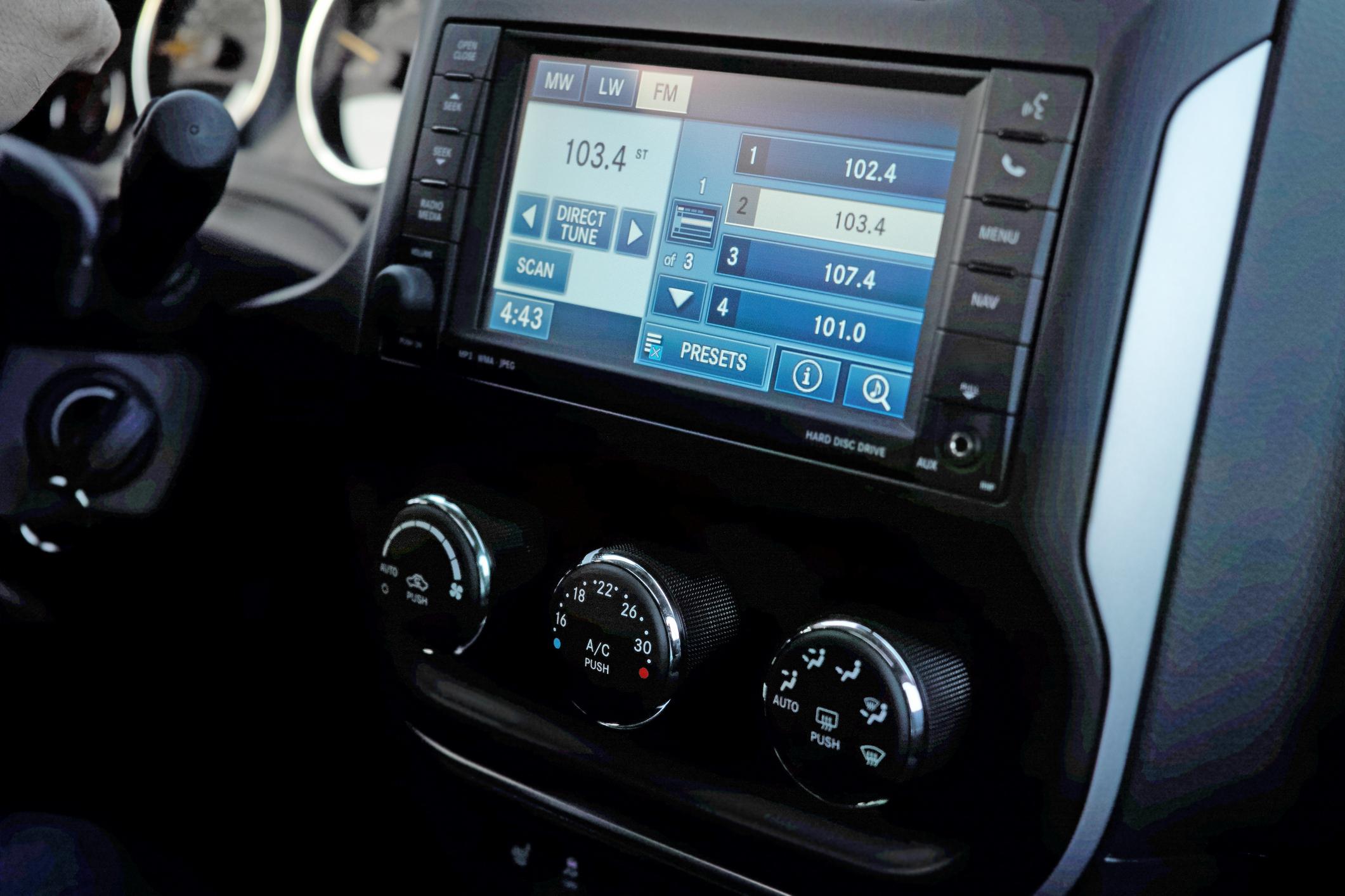 An automotive dashboard.