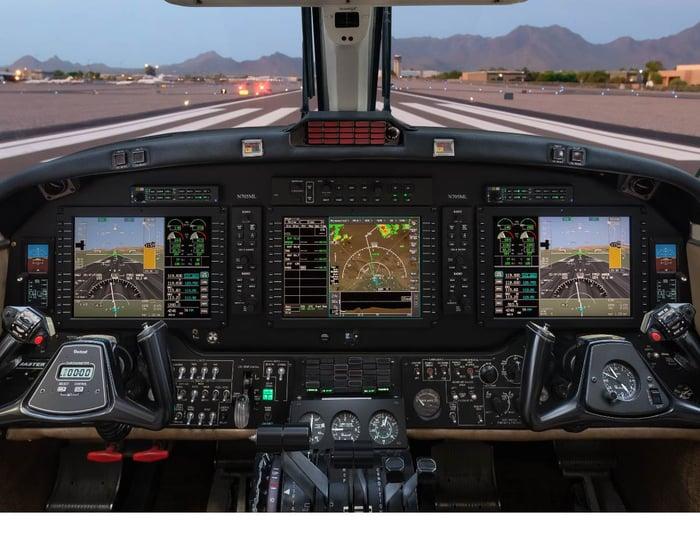 A Honeywell International flight deck
