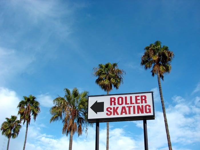 Roller Skating sign