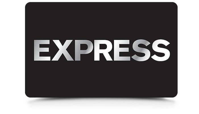 Express logo on a card.