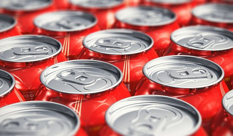 Pop Cans in a Line
