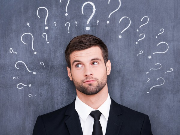 confused man question wondering thinking